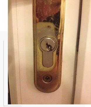 מפתח שבור במנעול
